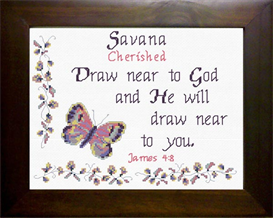 Name Blessings - Savana | Crafting | Cross-Stitch | Other