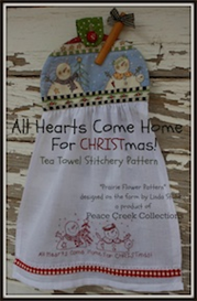 all hearts come home for christmas tea towel e-pattern