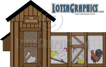 Hen House Clip Art