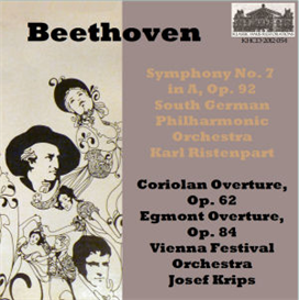 Beethoven: Symphony No. 7 in A, Op. 92 - South German Philharmonic/Karl Ristenpart; Coriolan Overture, Op. 62; Egmont Overture, Op. 84 - Vienna Festival Orchestra/Josef Krips | Music | Classical