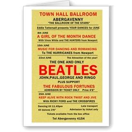beatles poster (no3) greetings card 6x4 7x5 templates