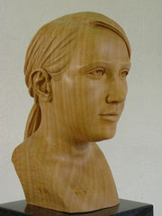 a1 carving the female head