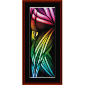 fractal 355 bookmark cross stitch pattern by cross stitch collectibles