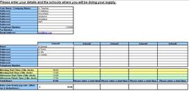 Teacher Resource Supply Teacher TimeSheet and Invoice Generator | Software | Software Templates