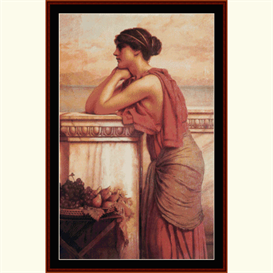 by the wayside - godward cross stitch pattern by cross stitch collectibles