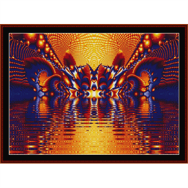 Fractal 353 fine cross stitch pattern by Cross Stitch Collectibles   Crafting   Cross-Stitch   Other