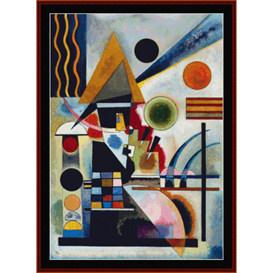 Swinging - Kandinsky cross stitch pattern by Cross Stitch Collectibles | Crafting | Cross-Stitch | Wall Hangings
