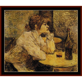 hangover - lautrec cross stitch pattern by cross stitch collectibles