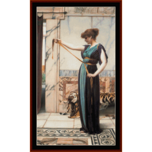 A Pompeian Lady - Alma-Tadema cross stitch pattern by Cross Stitch Collectibles | Crafting | Cross-Stitch | Wall Hangings