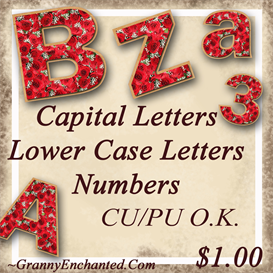 Red Rose CapitalLower Case Alphabet & Number | Crafting | Paper Crafting | Other
