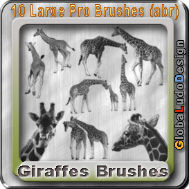 10 Giraffes Pro Brushes | Other Files | Graphics