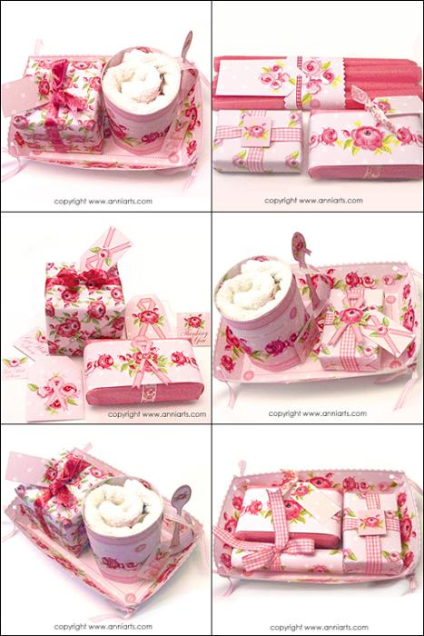 Second Additional product image for - Allmoge Folk Roses Gift Tray Cupcakes LPDF