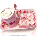 Allmoge Folk Roses Gift Tray Cupcakes LPDF | Crafting | Paper Crafting | Other