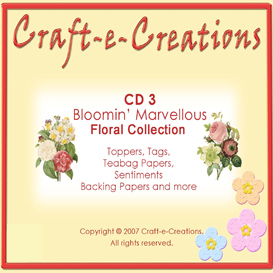 craft-e-creations bloomin' marvellous floral craft cd download