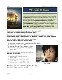HUGO, Whole-Movie English (ESL) Lesson (with Simplified Chinese) | eBooks | Education