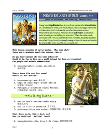 NIM'S ISLAND, Whole-Movie English (ESL) Lesson (Simplified Chinese) | eBooks | Education