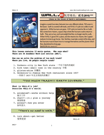 WALL-E,  Whole-Movie English (ESL) Lesson (Simplified Chinese) | eBooks | Education