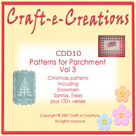 Craft-e-Creations Patterns for Parchment  Vol 3 | Crafting | Paper Crafting | Christmas
