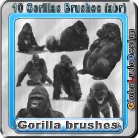 10 Gorillas Brushes | Other Files | Graphics