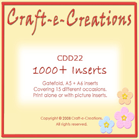 craft-e-creations 1000+ inserts