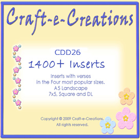 Craft-e-Creations 1400+ Inserts Collection | Crafting | Paper Crafting | Cards