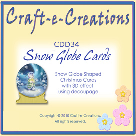 Craft-e-Creations Snow Globe Cards | Crafting | Paper Crafting | Christmas