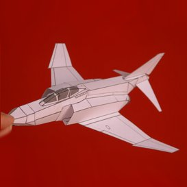 Paper F-4E White | Crafting | Paper Crafting | Paper Models