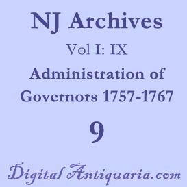 nj archives (i:ix) governors 1757-1767 (1885)