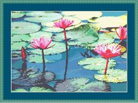 Lily Pads Cross Stitch Pattern | Other Files | Patterns and Templates