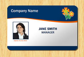 Employee ID Template #1 | Other Files | Patterns and Templates