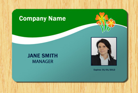 Employee ID Template #4 | Other Files | Patterns and Templates
