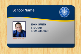 Student ID Template Other Files Patterns And Templates - Id badge template photoshop