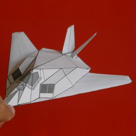 Paper F-117 White