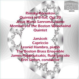 Rimsky-Korsakov: Quintet in B-flat, Op. 20 - Jésus Maria Sanromá, piano;  Members of the Boston Woodwind Quintet - Janácek: Capriccio - Leonid Hambro, piano; The Boston Brass Ensemble/James Pappoutsakis, flute/piccolo/Erin Simon, conductor | Music | Classical