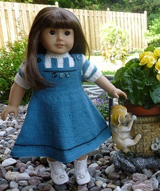 Doll Knitting Pattern-D004-Daisy-Teal & Antique White ...