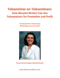 teleseminar on teleseminars recording and transcript