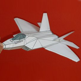 Paper F-22 White