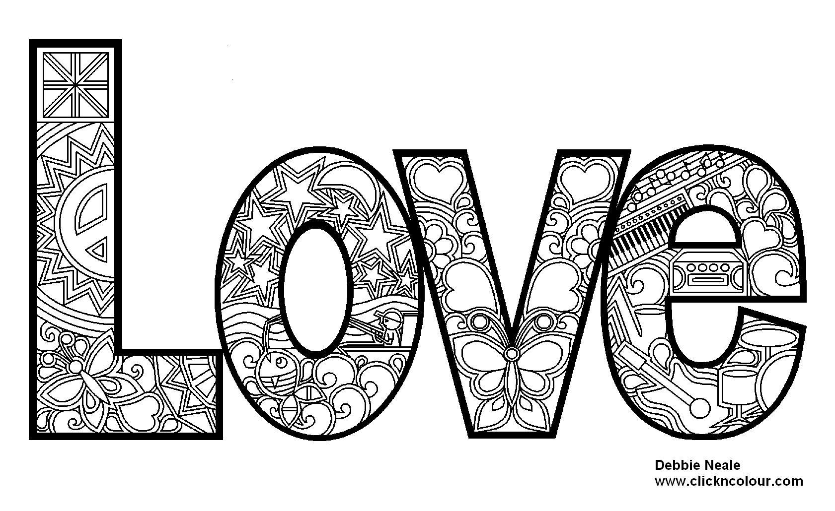 Music Design I Love Coloring Coloring Pages