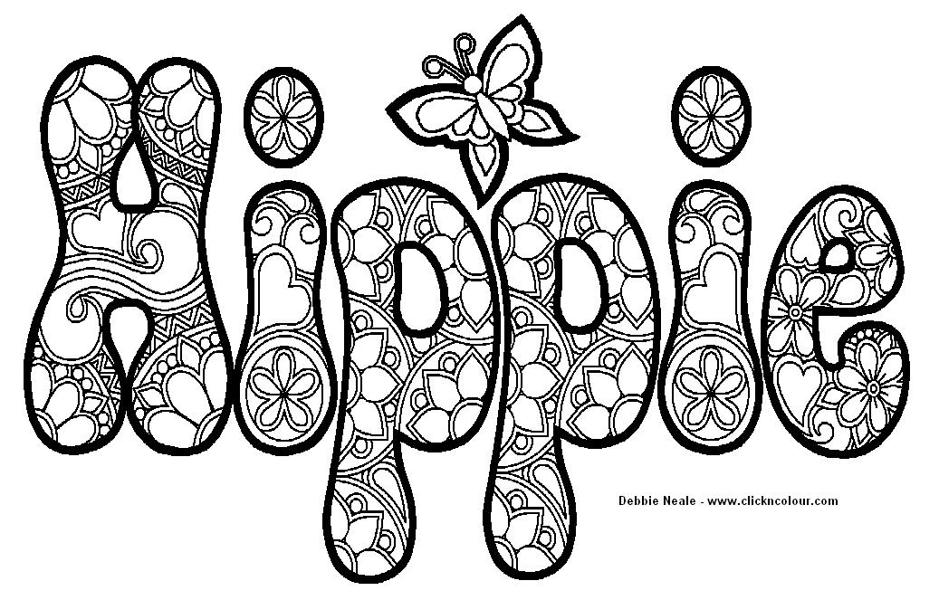 Hippie Coloring Design | Photos and Images | Clip Art