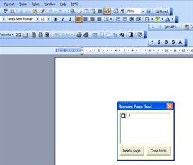 page removal tool for ms word