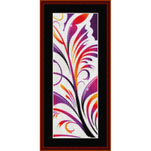 fractal 361 bookmark cross stitch pattern by cross stitch collectibles