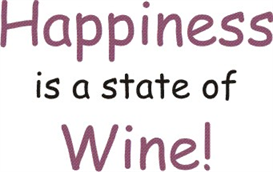 Happiness is a State of Wine machine embroidery File | Crafting | Sewing | Other