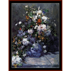 Spring Bouquet - Renoir cross stitch pattern by Cross Stitch Collectibles | Crafting | Cross-Stitch | Wall Hangings