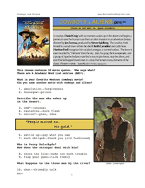 COWBOYS & ALIENS, Whole-Movie English (ESL) Lesson | eBooks | Education