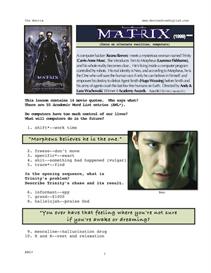 THE MATRIX, Whole-Movie English (ESL) Lesson | eBooks | Education