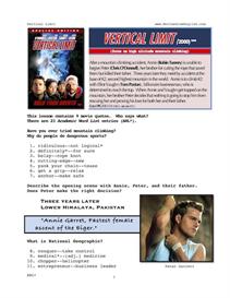 VERTICAL LIMIT, Whole-Movie English (ESL) Lesson   eBooks   Education