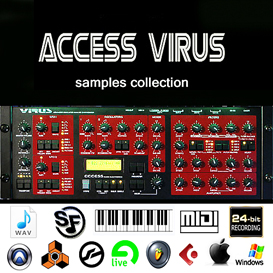Best of Access Virus Samples Reason kontakt 5 6 Halion Fl studio synth lead electro | Music | Soundbanks