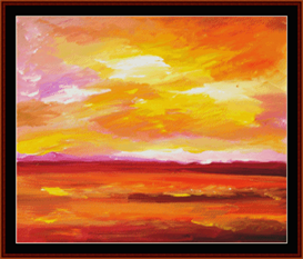 Fiery Sky - Dan Scharf cross stitch pattern by Cross Stitch Collectibles | Crafting | Cross-Stitch | Other