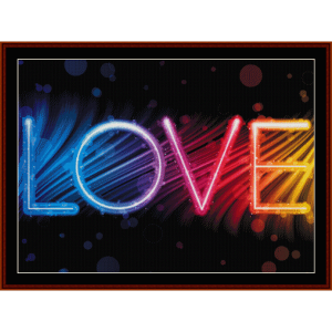 love - whimsical cross stitch pattern by cross stitch collectibles