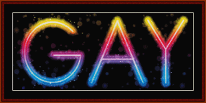 Gay - Whimsical cross stitch pattern by Cross Stitch Collectibles | Crafting | Cross-Stitch | Wall Hangings